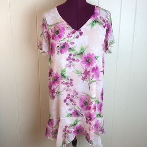 3/$27 Three Eighty Two Pink Floral Shift Dress